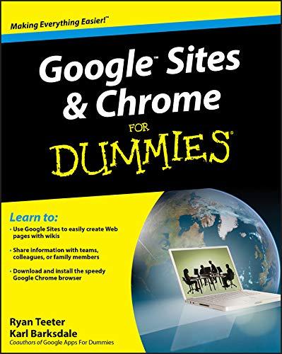 9780470396780: Google Sites & Chrome for Dummies