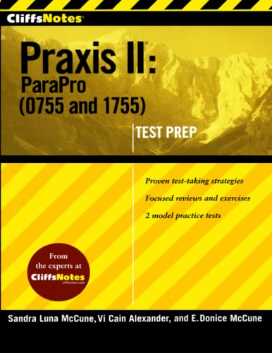 9780470397282: CliffsNotes Praxis II: ParaPro (0755 and 1755) (CliffsNotes (Paperback))