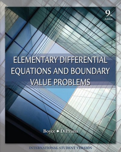 9780470398739: Elementary Differential Equations and Boundary Value Problems
