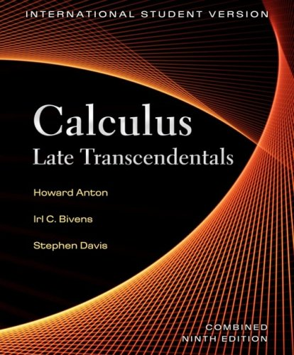 9780470398746: Calculus: Late Transcendentals, International Student Version, Combined 9th