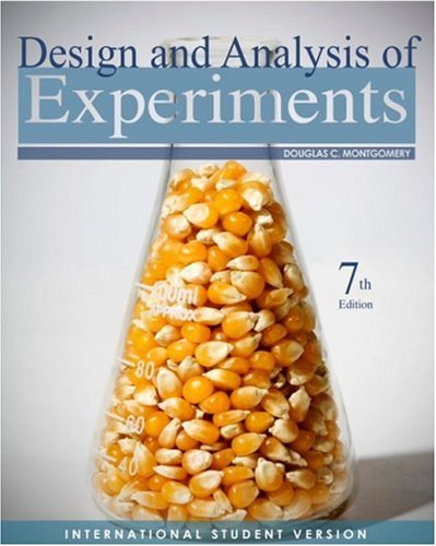 9780470398821: Design and Analysis of Experiments, International Student Version, 7th Edit