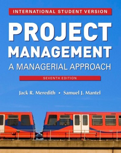 9780470400265: Project Management: A Managerial Approach, International Student Version, 7