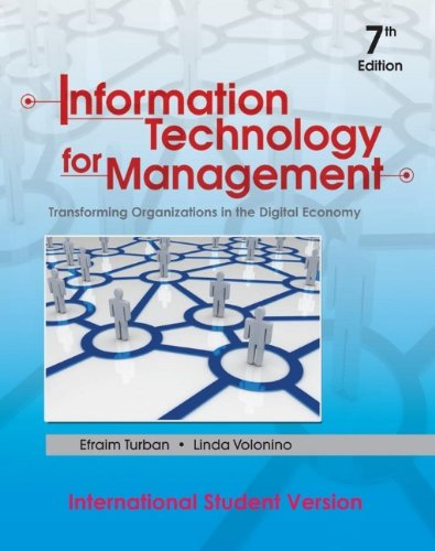 9780470400326: Information Technology for Management: Transforming Organizations in the Digital Economy