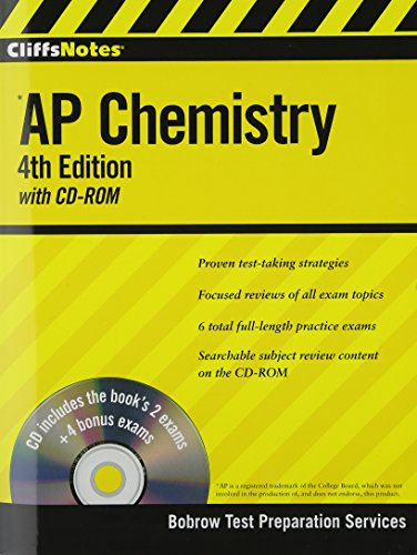 9780470400340: CliffsNotes AP Chemistry with CD-ROM, 4th Edition (Cliffs AP)