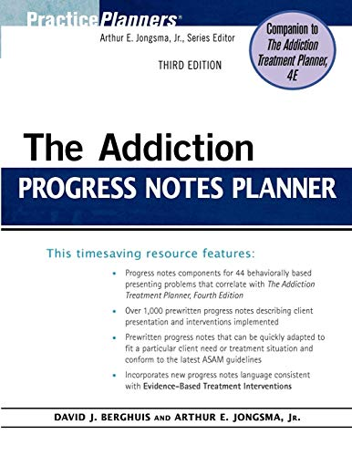 9780470402764: The Addiction Progress Notes Planner