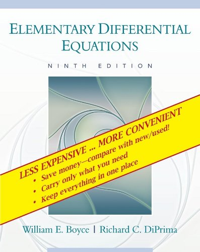 9780470404041: Elementary Differential Equations