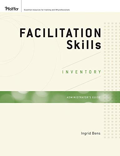 9780470408681: Facilitation Skills Inventory Administrator's Guide Packaged Edition