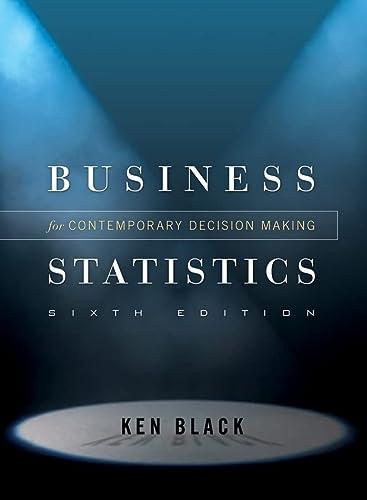 9780470409015: Business Statistics: Contemporary Decision Making