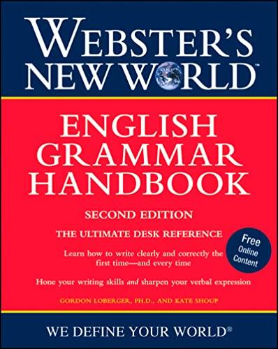 9780470410806: Webster's New World English Grammar Handbook, Second Edition