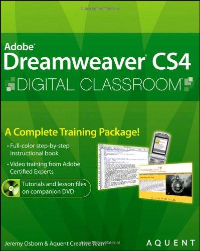 9780470410929: Dreamweaver CS4 Digital Classroom, (Book and Video Training)
