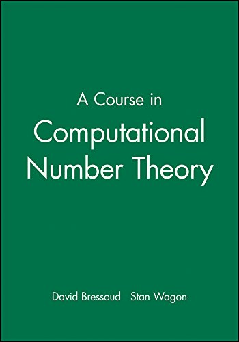 9780470412152: A Course in Computational Number Theory (Key Curriculum Press)