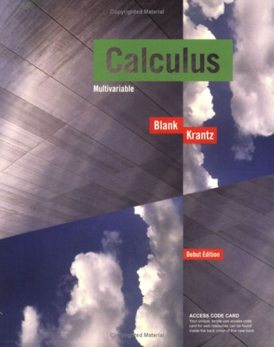 9780470412718: Calculus Multivariable (Key Curriculum Press)