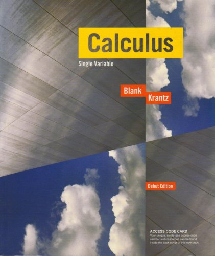 9780470412770: Calculus: Single-Variable