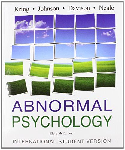 9780470413340: Abnormal Psychology