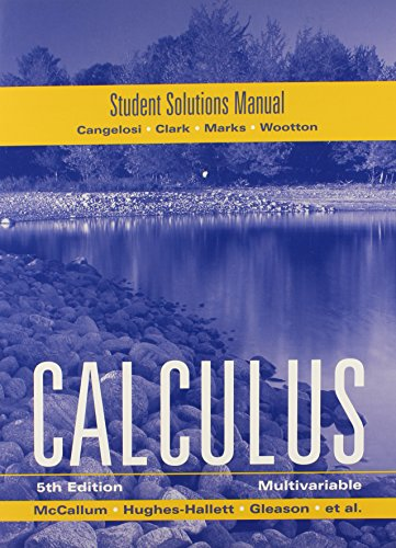 9780470414132: McCallum, Student Solutions Manual for Multivariable Calculus