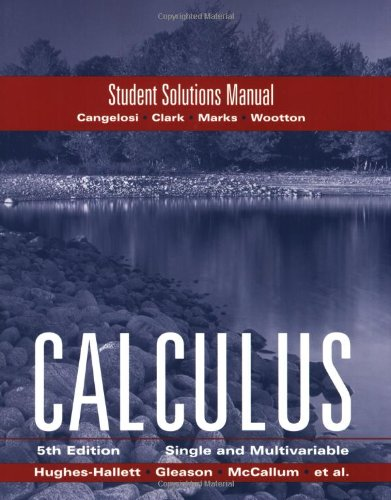 9780470414149: Hughes Hallett Student Solutions Manual to accompany Calculus Combo