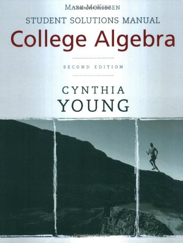 9780470417034: College Algebra, Student Solutions Manual