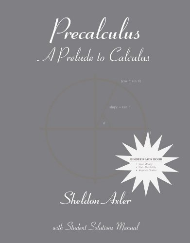 9780470418130: Precalculus: A Prelude to Calculus 1st Edition Binder Ready Version
