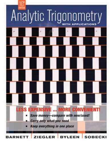 9780470418260: Analytic Trigonometry with Applications, Tenth Edition Binder Ready