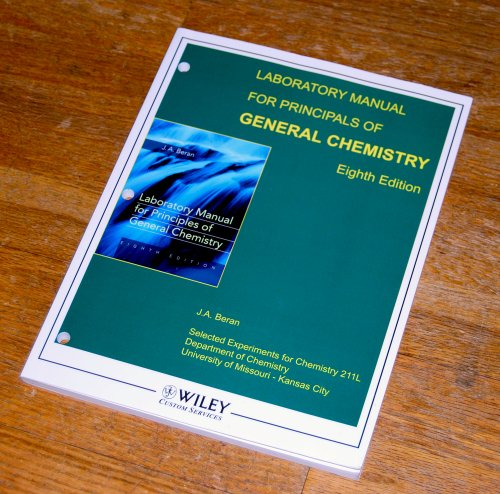 9780470421970: Laboratory Manual for the Priciples of General Chemistry, Chemistry 211 Lab