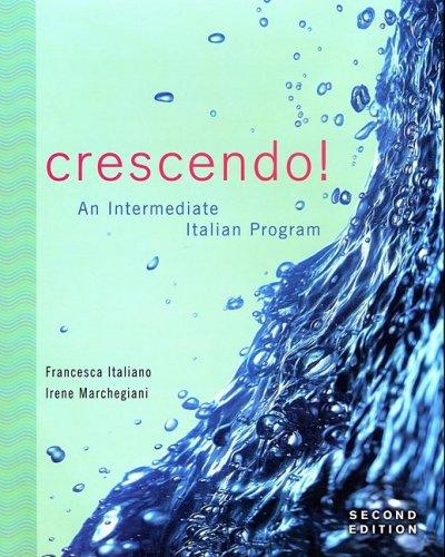 9780470424117: Crescendo!: An Intermediate Italian Program