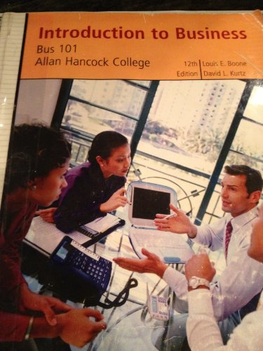 9780470424469: Introduction to Business Custom- Bus101 Allan Hancock College