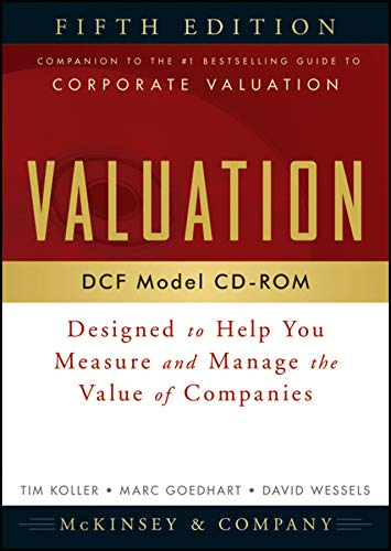 9780470424575: Valuation DCF Model, CD-ROM: Designed to Help You Measure and Manage the Value of Companies, 5th Edition