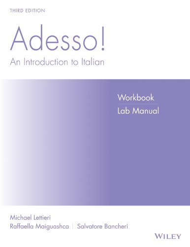 9780470425022: Adesso!, Workbook/Lab: An Introduction to Italian