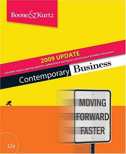 9780470425800: Contemporary Business 2009