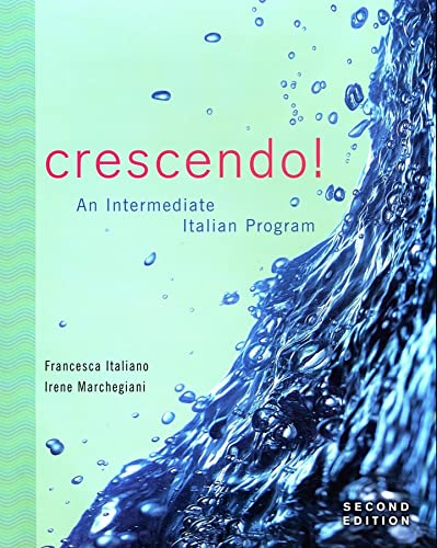 9780470425855: Crescendo!: An Intermediate Italian Program with Text Audio CD