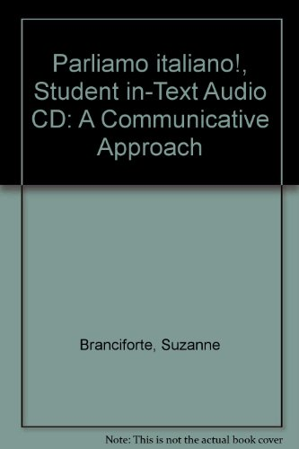 9780470426234: Parliamo italiano!, Student in-Text Audio CD: A Communicative Approach