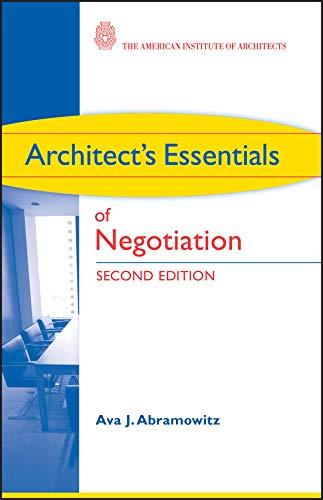 9780470426883: Architect's Essentials of Negotiation