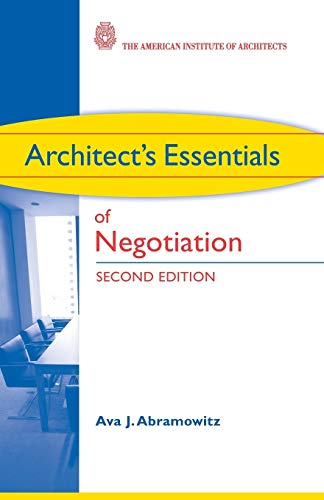 9780470426883: Architect's Essentials of Negotiation