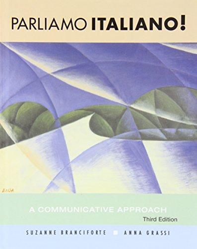 9780470427347: Parliamo Italiano With Intext Audio Cd + Student Activities Manual