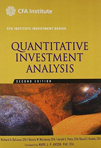 9780470427576: Quantitative Investment Analysis 2E (CFA) and Student Workbook Set