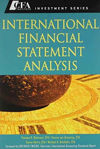 9780470427606: International Financial Statement Analysis (CFA) with Student Workbook Set (CFA Institute Investment Series)