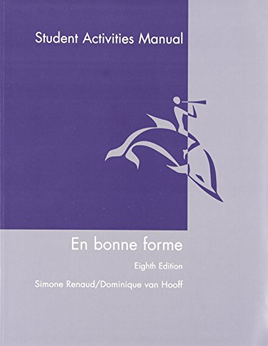 9780470428696: En Bonne Forme, Student Activities Manual