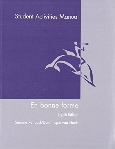 9780470428696: En Bonne Forme, Student Activities Manual