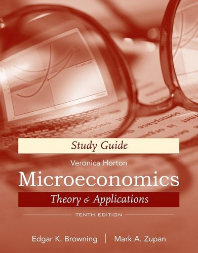 9780470429495: Microeconomics, Study Guide: Theory and Applications