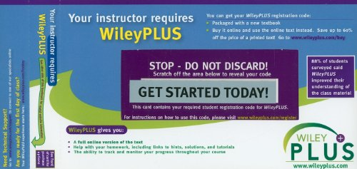 9780470429662: WileyPlus Registration Card for Principles of Anatomy and Physiology