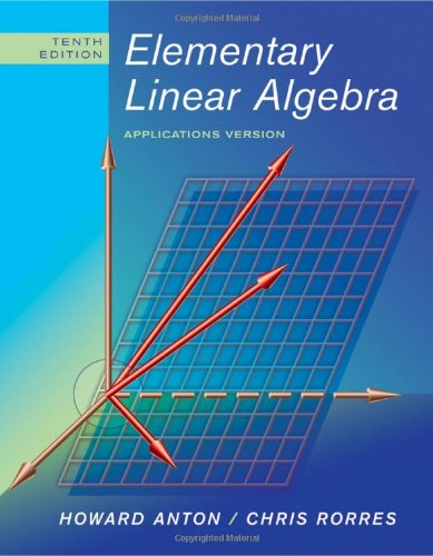 9780470432051: Elementary Linear Algebra: Applications Version