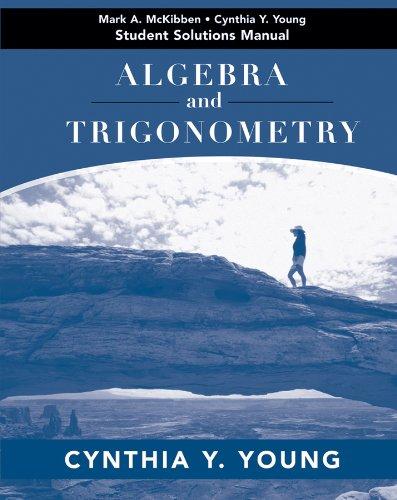9780470433768: Algebra and Trigonometry, Student Solutions Manual