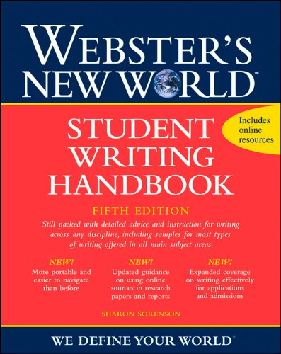 9780470435397: Webster's New World Student Writing Handbook, Fifth Edition