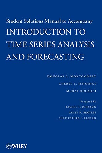 9780470435748: Student Solutions Manual to Accompany Introduction to Time Series Analysis and Forecasting