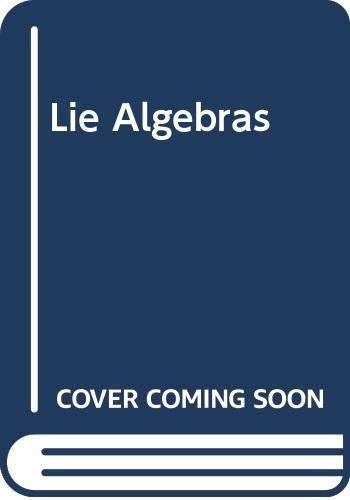 9780470435939: Lie Algebras