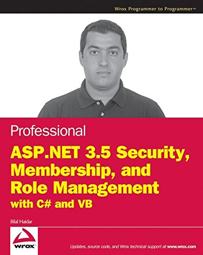 9780470442944: Professional ASP.Net 3.5 Security, Membership, and Role Management with C# and VB