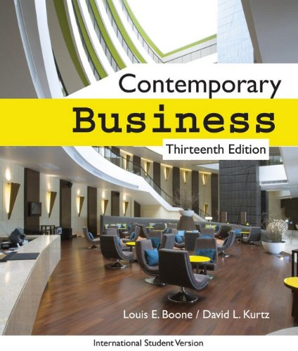 9780470445594: Contemporary Business