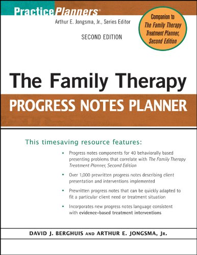 9780470448847: The Family Therapy Progress Notes Planner