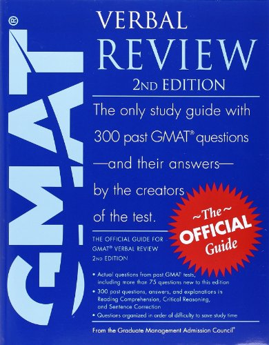 9780470449752: The Official Guide for GMAT Verbal Review, 2nd Edition