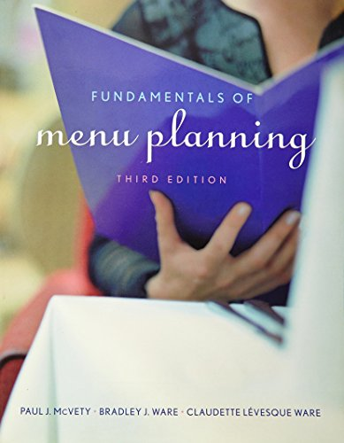 9780470450055: Fundamentals Of Menu Planning